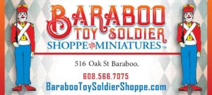 baraboo toy soldier shoppe logo