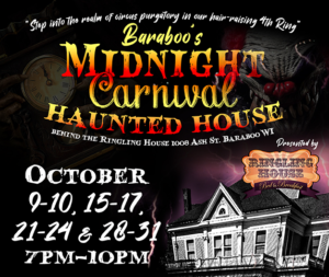 baraboo's midnight carnival haunted house