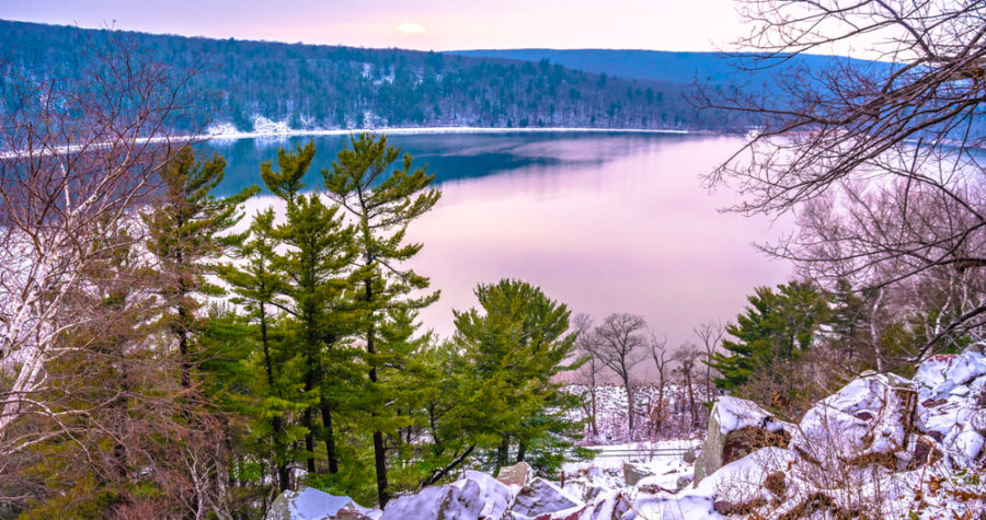 Winter in Devils Lake State Park near our Wisconsin Bed and Breakfast